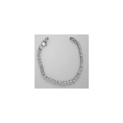 Oriental anklet silver - heart