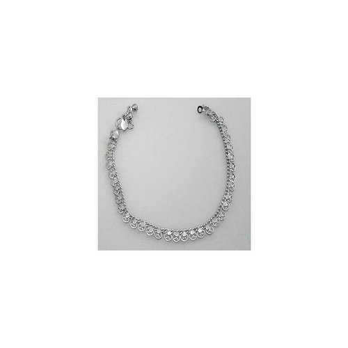 Heart anklet silver color
