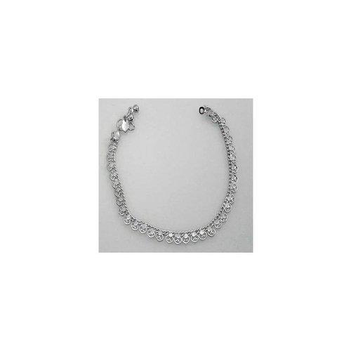 Herz-Fusskette Silberfarbe