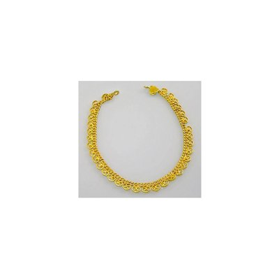 Oriental anklet gold - Heart