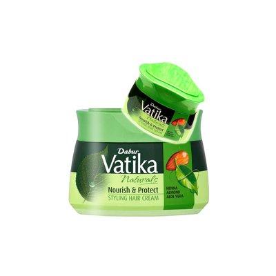 Vatika Dabur Vatika Haarcreme Nourish & Protect mit Mandeln, Aloe Vera, Henna - Styling Hair Cream (140ml)