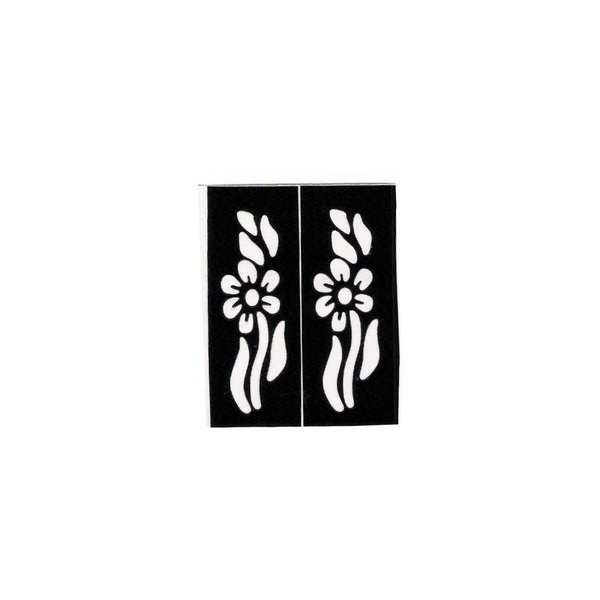 Self-adhesive small Henna stencils tattoos - Two pieces (5cm x 2cm)