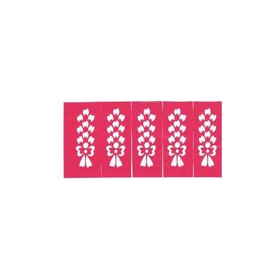 Self-Adhesive Small Henna Stencils - 10 pieces set (39cm x 5.5 cm)