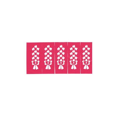 Self-Adhesive Small Henna Stencils - 10 pieces set