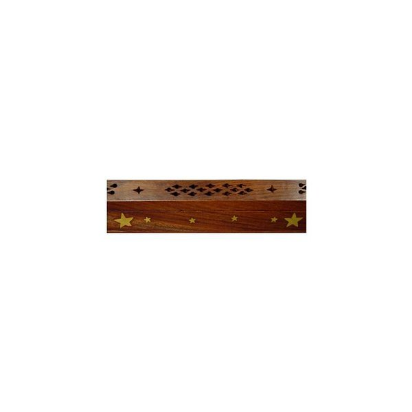 "Incense Holder with Inlays and storage compartment ""Stars"""