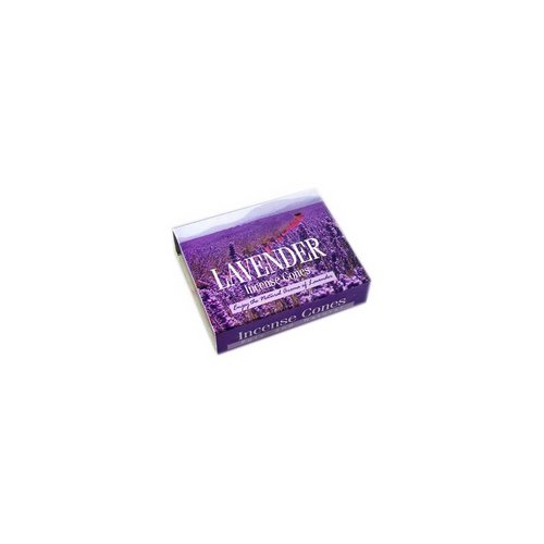 Darshan Incense cones Lavender with holder (10 pieces)
