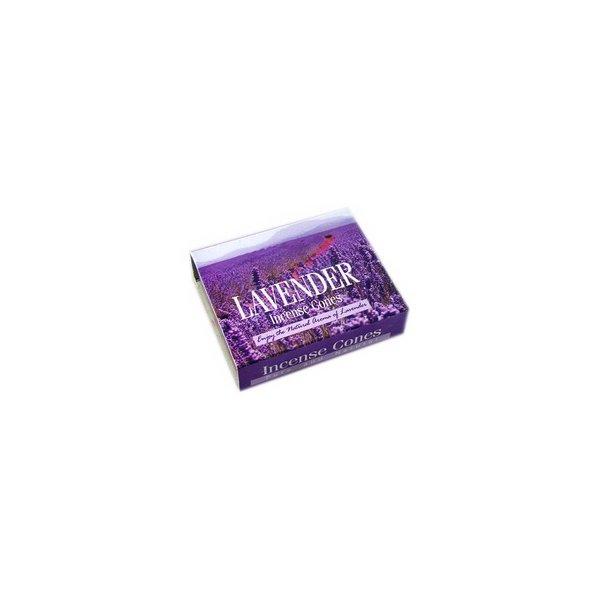 Darshan Räucherkegel Duftnote Lavendel mit Halter (10 Stück)