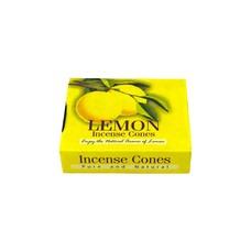 Darshan Räucherkegel Zitrone mit Halter (10 Stück)