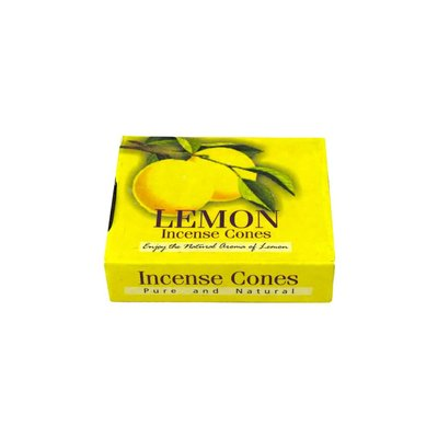 Darshan Incense cones Lemon scent with holder (10 piece)