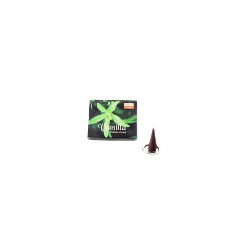 Darshan Incense cones vanilla with holder (10 pieces)