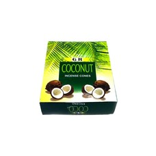 Incense cones coconut with holder (10 pieces)