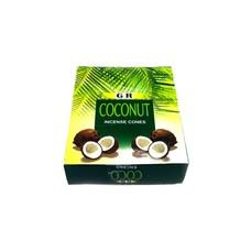 Incense cones coconut with holder (10 pieces)