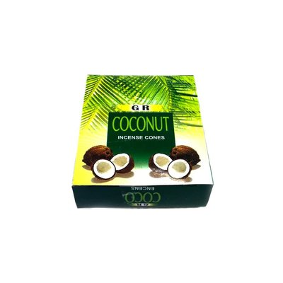 Incense cones coconut scent with holder (10 piece)