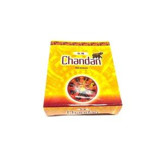 Incense cones Chandan with holder (10 pieces)
