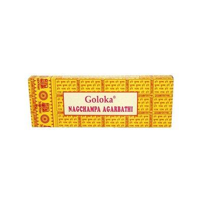 Satya Incense sticks Satya Saibaba Nag Champa Goloka with Nag Champa scent (20g)