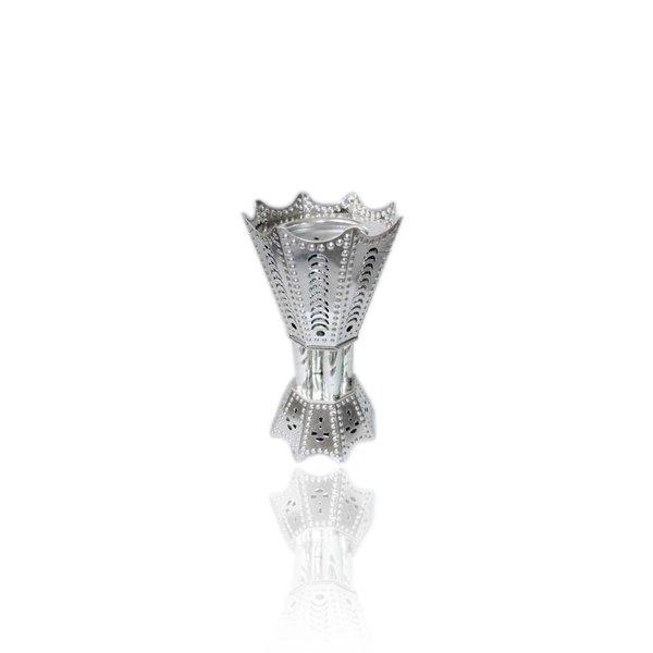 Mubkara - Großes Räuchergefäß Silber für Bakhour