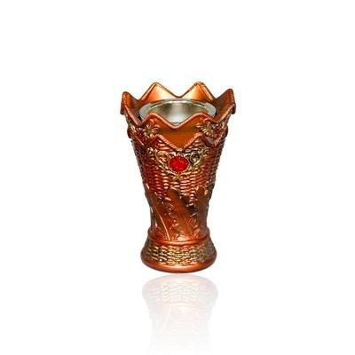 Mubkara - Large censer in bronze colour for Bakhour incense burning
