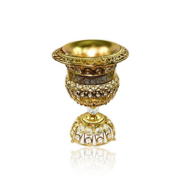 Mubkara - Large censer in gold for Bakhour incense burning