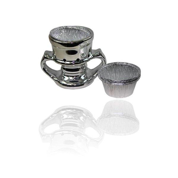 Mubkara - Silbernes Räuchergefäss für Räuchern mit Bakhour