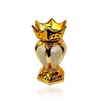 Mubkara - Räuchergefäß Keramik für Räuchern mit Bakhour Orientgold