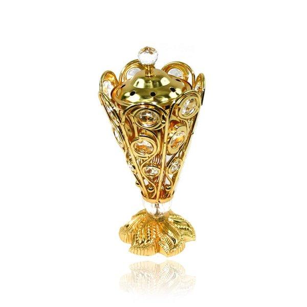 Mubkara - Großes Räuchergefäß Gold für Räuchern mit Bakhour