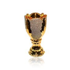 Mubkara - Räuchergefäß Keramik Goldglanz