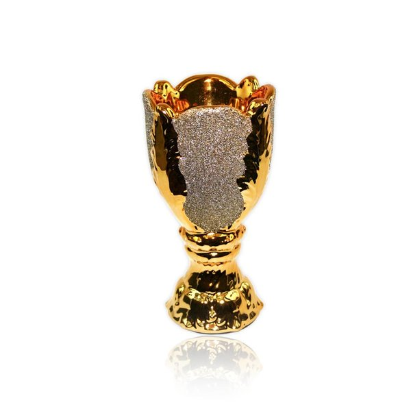 Mubkara - Räuchergefäß Keramik für Räuchern mit Bakhour Goldglanz