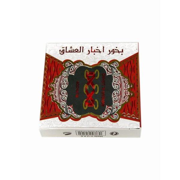 Ard Al Zaafaran Perfumes  Bakhour Akhbar Al Ushaq Incense (40g)