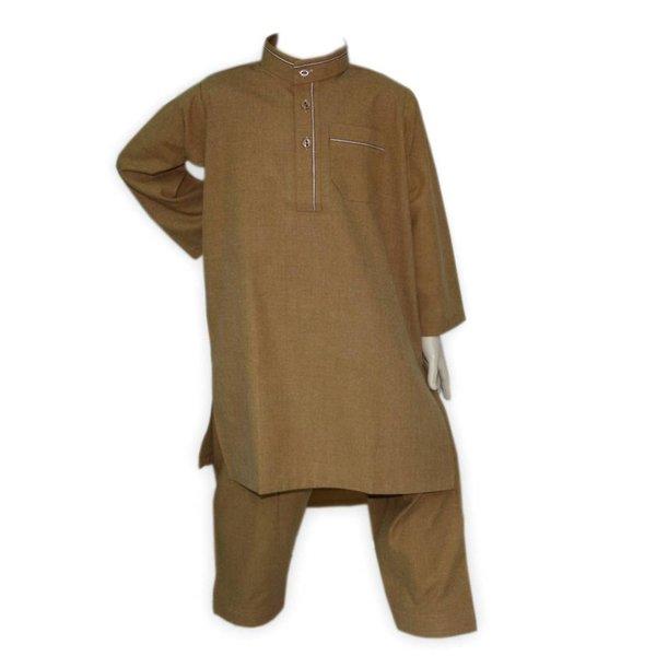 Kinder Salwar Kameez in Braun für Jungen