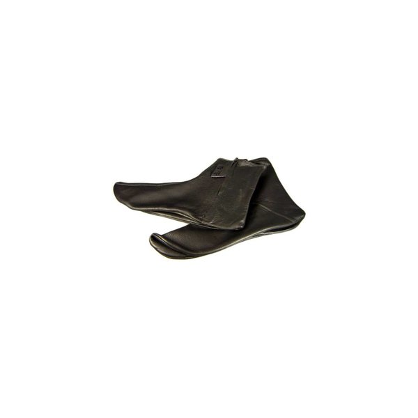 Leather Socks Khuff Mest Lined in Black