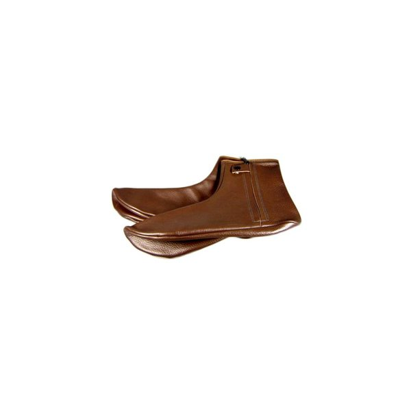 Leather Socks Khuff Mest in Brown