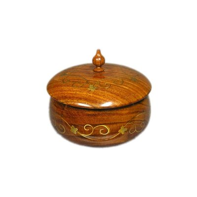 Small wooden box with coasters from Sheesham