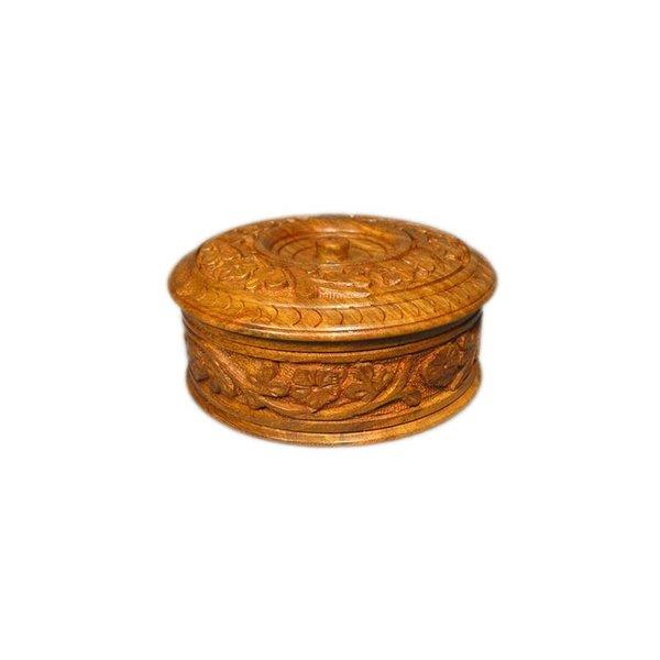 Grosse Holzdose mit Schnitzereien aus Sheeshamholz