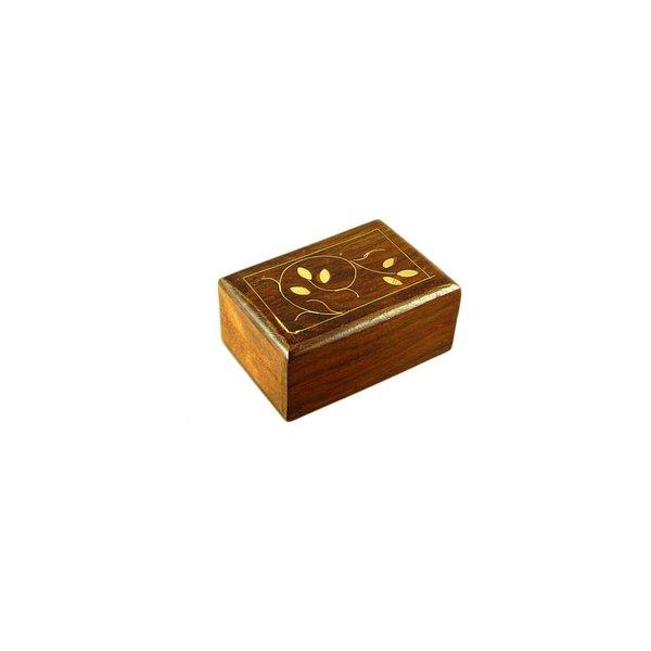 Kleine Schatulle mit Intarsien aus Holz