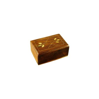 Small box with inlays wood