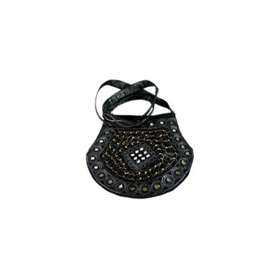 Shoulder bag handbag with embroidery Oriental Black