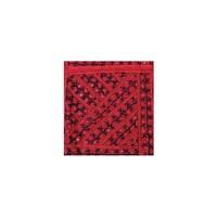 Wandteppich Wandbehang Orient in Rot mit Streifenmuster