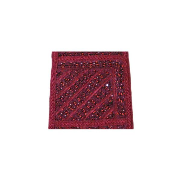 Tapestry wall hanging in Orient Burgundy Stripes