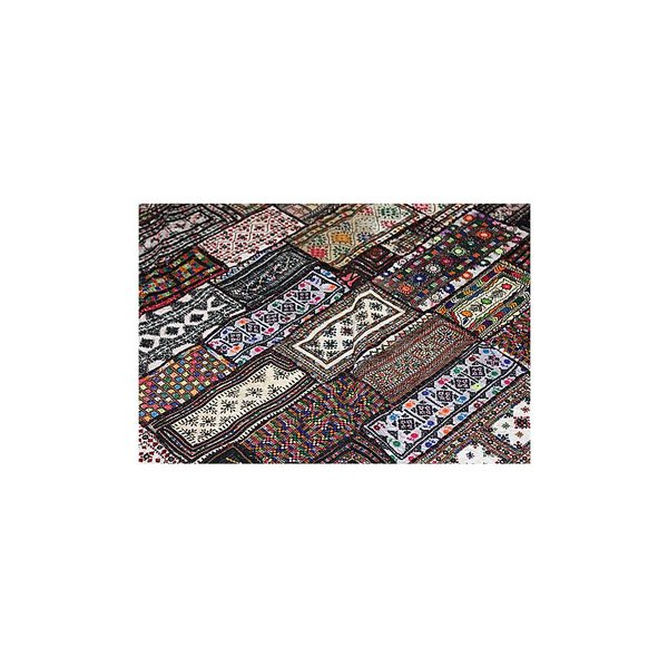 Tagesdecke Überwurf Wandteppich Patchwork Einzelstück
