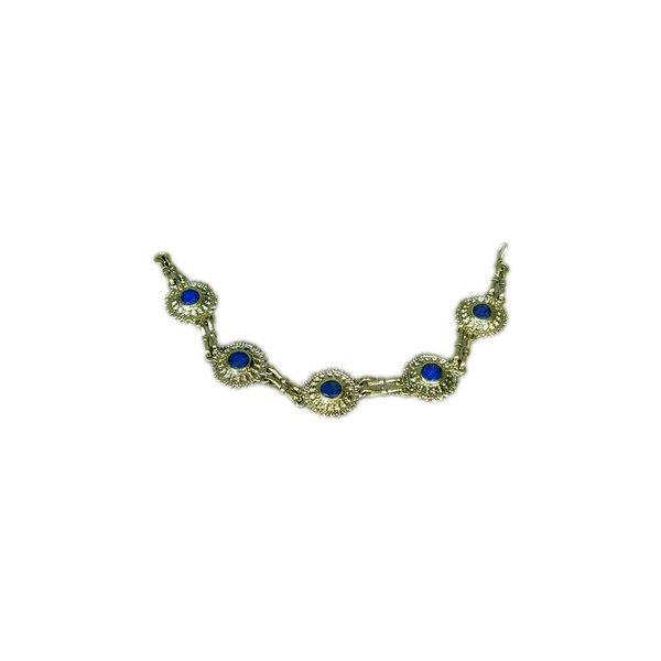 Tribal costumes bracelet lapis lazuli round