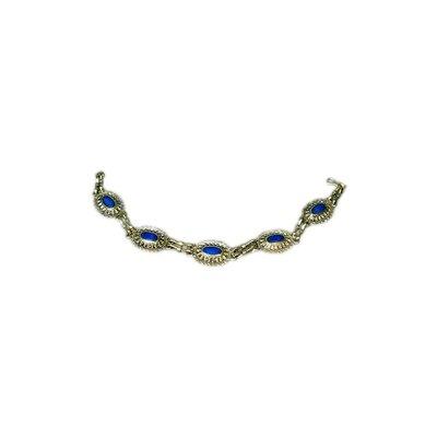 Tribal costumes Bracelet Lapis Lazuli Oval