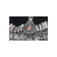 Headdress tribal with fishes and red stones