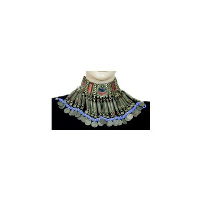 Tribal Fish Choker Necklace