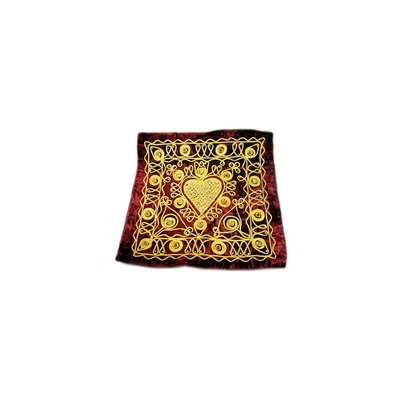 Embroidered Oriental Cushion Cover in Red