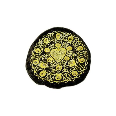 Embroidered Oriental Cushion Cover in Black