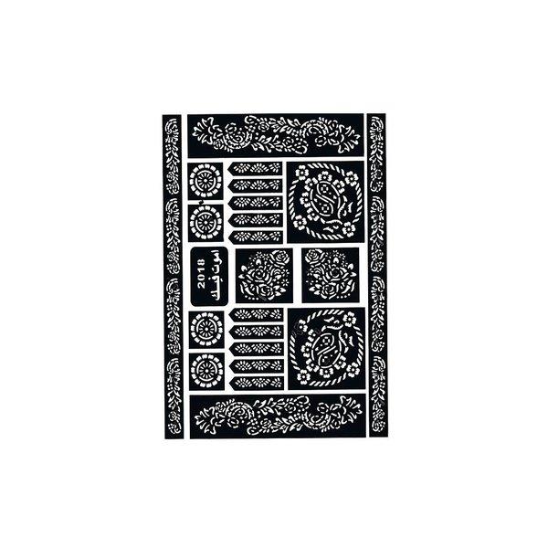 Self-adhesive henna stencils - Maxiset (29cm x 20cm)