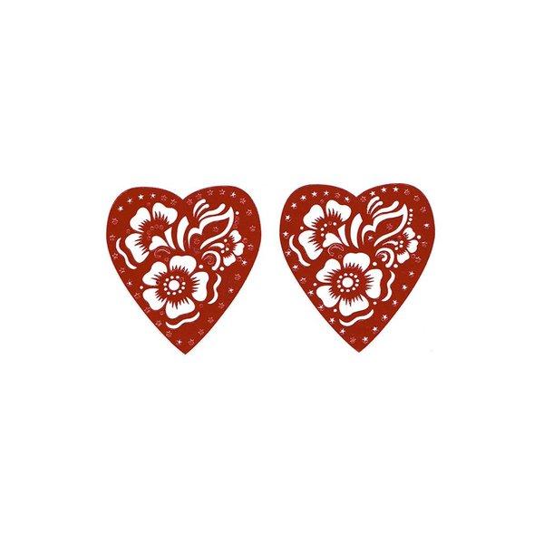 Selbstklebende Hennaschablone - Herz für Hennatattoos