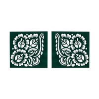 Self-adhesive henna stencil Square for henna tattoos (6cmx6cm)