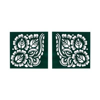 Selbstklebende Hennaschablone - Quadratisch für Hennatattoos (6cmx6cm)