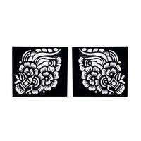 Self-adhesive henna stencil Square for henna tattoos (6cmx6cm)